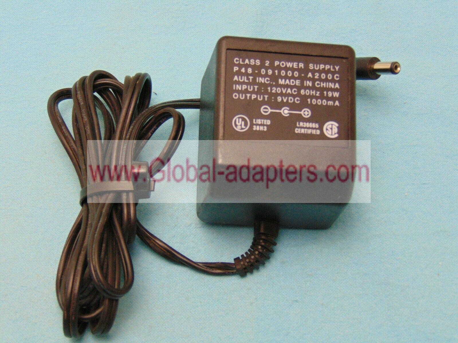 AULT INC  9V DC 500mA P41-090500-A030G 30-46485-01 ac